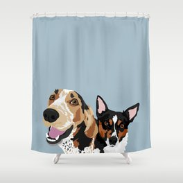 Freddy and Trigger Shower Curtain