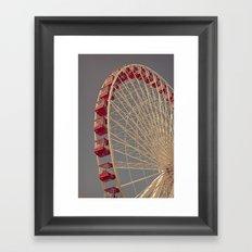 Chicago Wheel Framed Art Print