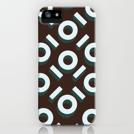 Brown Keyhole Pattern iPhone Case