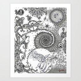 TRANSFORMING KIMMY Art Print