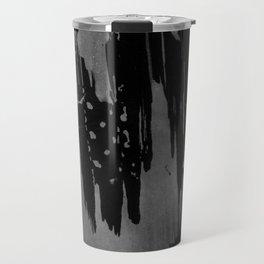 Modern black gray hand painted watercolor pattern Travel Mug