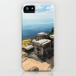 A lonely building on a top of a mountain iPhone Case
