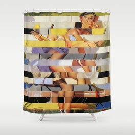 Glitch Pin-Up Redux: Isabella Shower Curtain