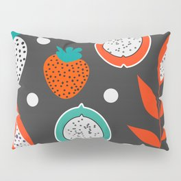Strawberries and citrus fruits at night Pillow Sham