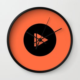 Pause/Play Wall Clock