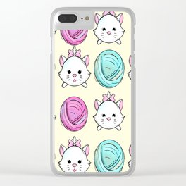 Playful Marie Clear iPhone Case