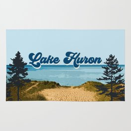 Lake Huron Retro Rug