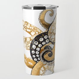 Metallic Octopus Travel Mug