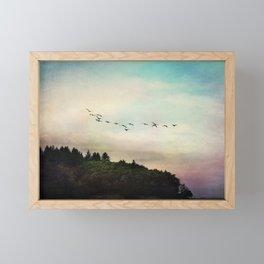 flight pattern Framed Mini Art Print