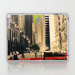 Downtown Chicago photography digitally reimagined - modern Chicago skyline in pop art Laptop & iPad Skin