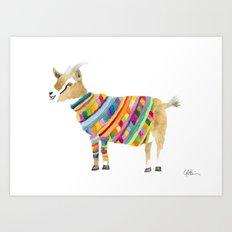 Goat in a Sweater Art Print