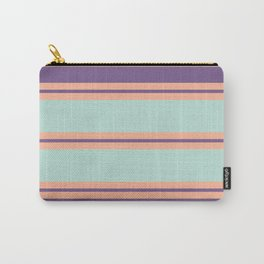 Minimal Abstract Apricot Purple SeaGreen 01 Carry-All Pouch