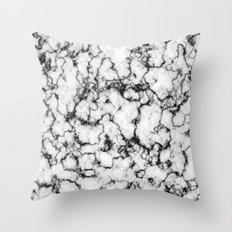 Black and White Stone Throw Pillow