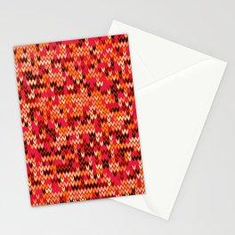 Melange knit textile 3 Stationery Cards