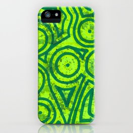 Square Green Round iPhone Case