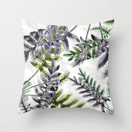 Vintage Ferns Throw Pillow