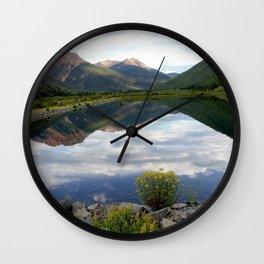 Crystal Lake on the Million Dollar Highway, elevation 9,611 feet Wall Clock