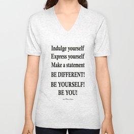 Express yourself! Unisex V-Neck