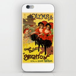 Belle Epoque vintage poster, Olympia, Grand Ballet iPhone Skin
