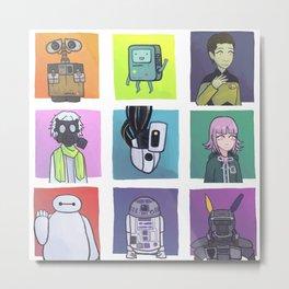 Robots! Metal Print