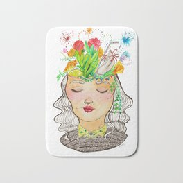 Clutter Brain Bath Mat