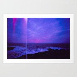 Dusk Light Leak Art Print
