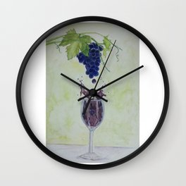 Metamorphosis - From Vine to Wine in the Finger Lakes Wall Clock