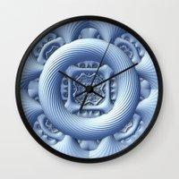 frozen Wall Clocks featuring Frozen by Lyle Hatch