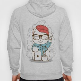 Hipster Kitty Hoody
