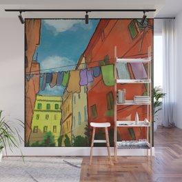 Laundry in Trastevere Wall Mural