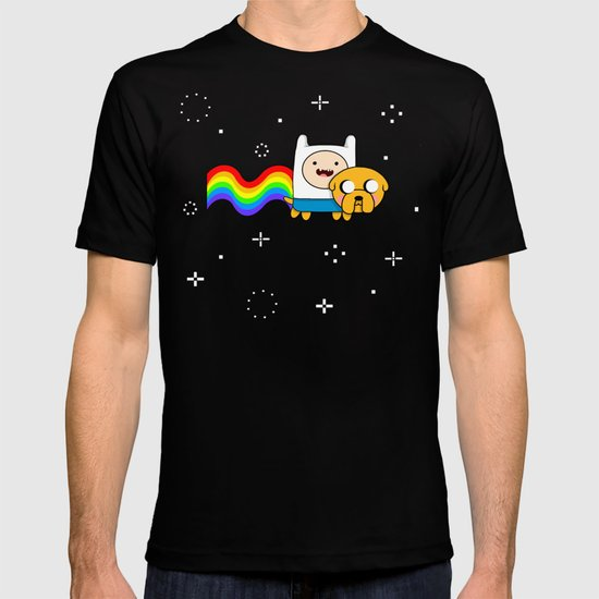 Nyan Time: Adventure Time plus Nyan Cat T-shirt