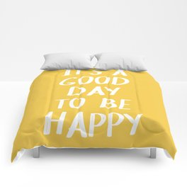 It's a Good Day to Be Happy in Yellow Comforters