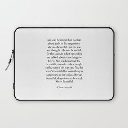 She was beautiful, but not like those girls in the magazines. Laptop Sleeve