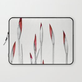 Red and White Spring Laptop Sleeve