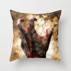 Hand of Doom Throw Pillow