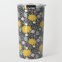 Ramona: a Modern Floral Pattern Travel Mug