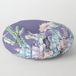 Desert Gemstone Oasis Purple Floor Pillow
