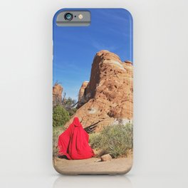 Portrait in Red | Arches IV iPhone Case