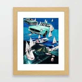 Ocean Roads Framed Art Print