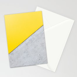 Yellow & Gray Abstract Background Stationery Cards