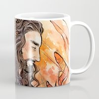 hobbit Mugs featuring The Hobbit - Dragon Sickness by lorna-ka