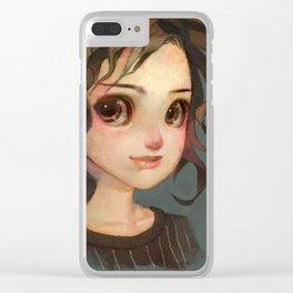 Subtle Smile Clear iPhone Case