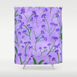 la kwah violet Shower Curtain