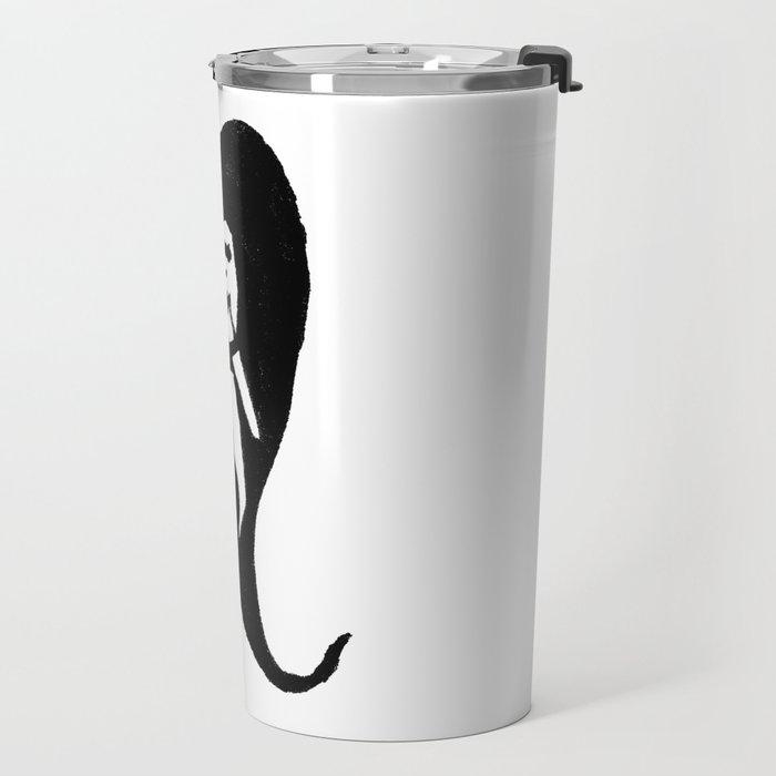 lonely heart (bw) Travel Mug