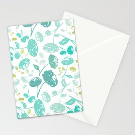 peony.turquoise Stationery Cards
