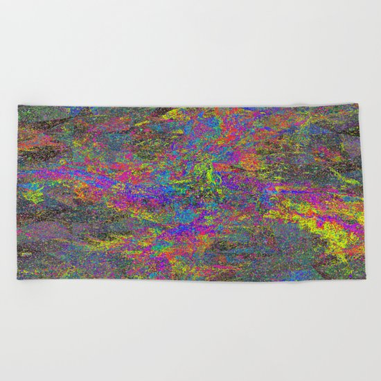 GLITCH Beach Towel