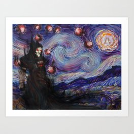 Death Night Blossom Art Print