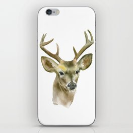 Buck Watercolor Painting Deer Fine Art iPhone Skin