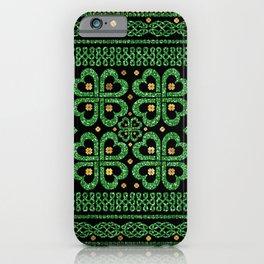Shamrock Four-leaf Clover Celtic Ornament iPhone Case
