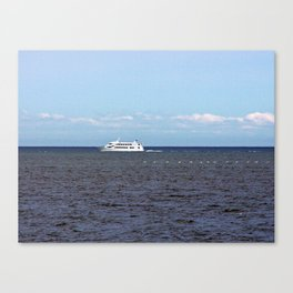 Yatch and Birds Racing Canvas Print